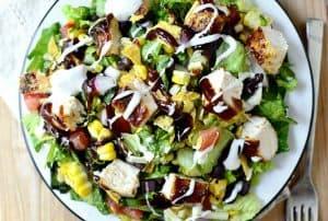 BBQ Chicken & Summer Salad with Paleo Ranch Dressing