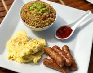 Local Style Breakfast with Quinoa Fried Rice