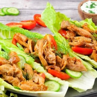 Lettuce Grilled Chicken Shawarma