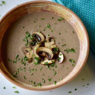 Mushroom Cream and Pesto Salad