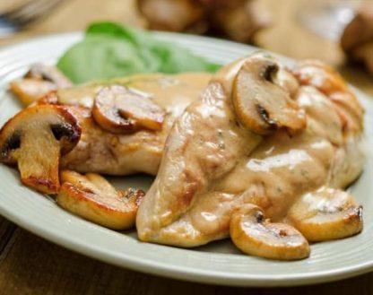 Mushroom Chicken with Sweet Potato Mash
