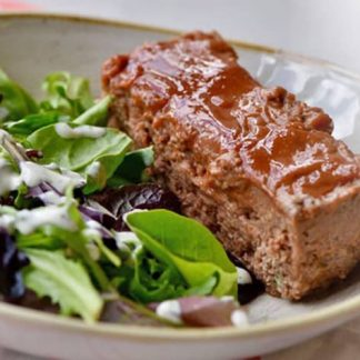 Meatloaf with Mixed Greens Salad