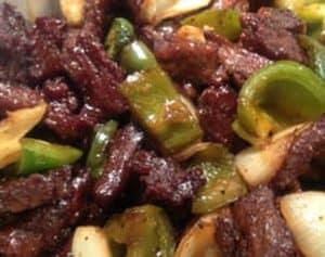 Hibachi steak w/ coconut aminos bbq sauce and veggies