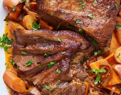 BBQ Beef Brisket with Baby Potatoes
