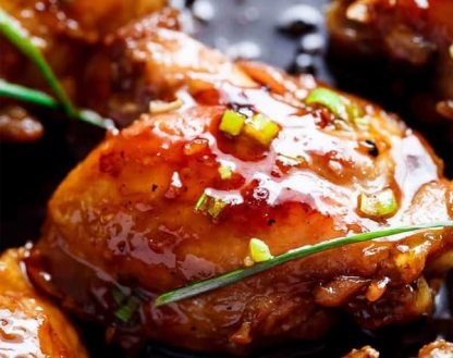Grilled Teriyaki Chicken with Chinese Peas and Long Beans