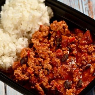 Turkey Chili with Rice