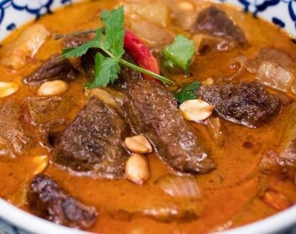 Almond Butter Beef Penang Curry