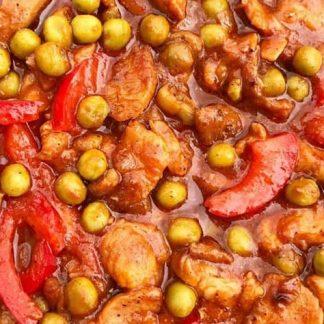 Pork Guisantes w/ White Rice