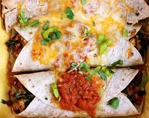 Ground Tofu Enchiladas