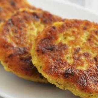 Vegan Patties w/ Spanish Rice, Corn and Raisins