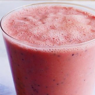 Watermelon & Strawberry Smoothie w/ Boiled Eggs